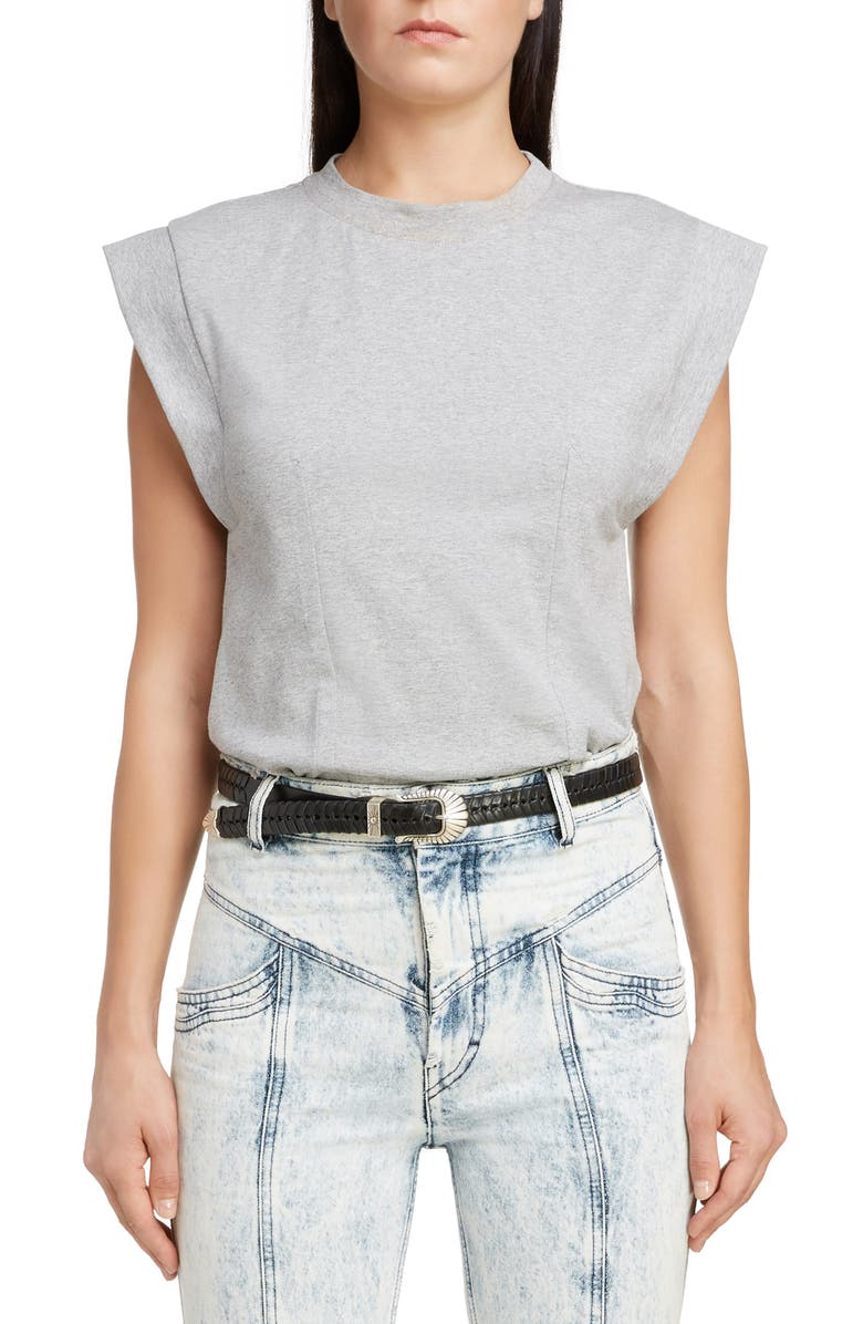 ISABEL MARANT Back Cutout Muscle Tee, Main, color, 020