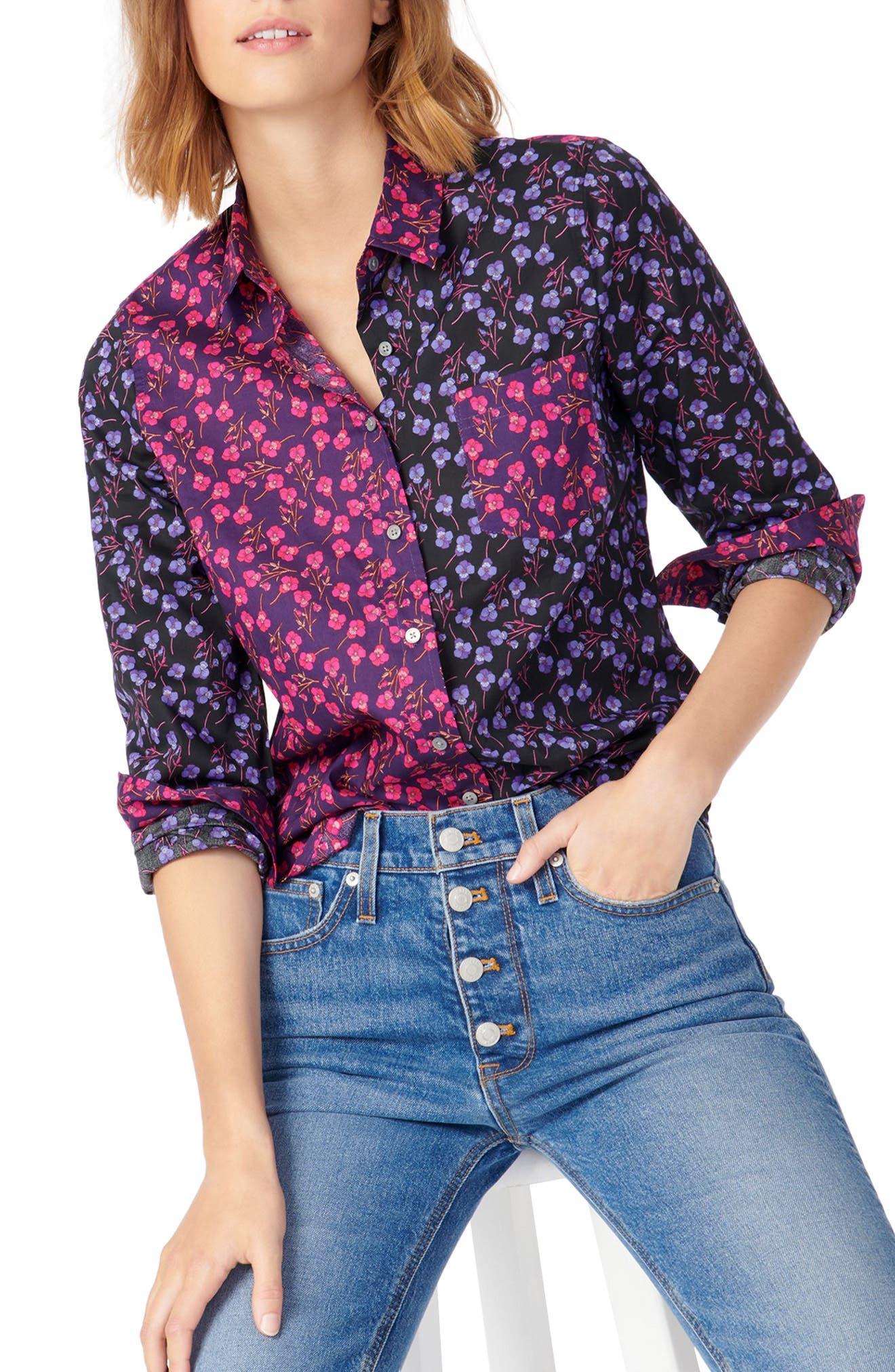 J.Crew Liberty® Print Slim Perfect Shirt | Nordstrom
