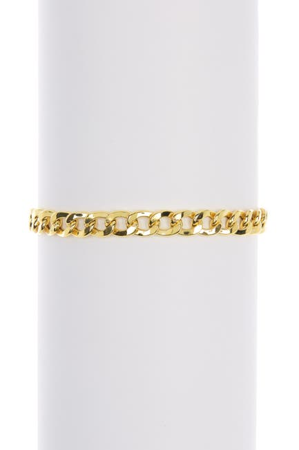 Image of Argento Vivo Gold Plated Sterling Silver Curb Chain Bracelet