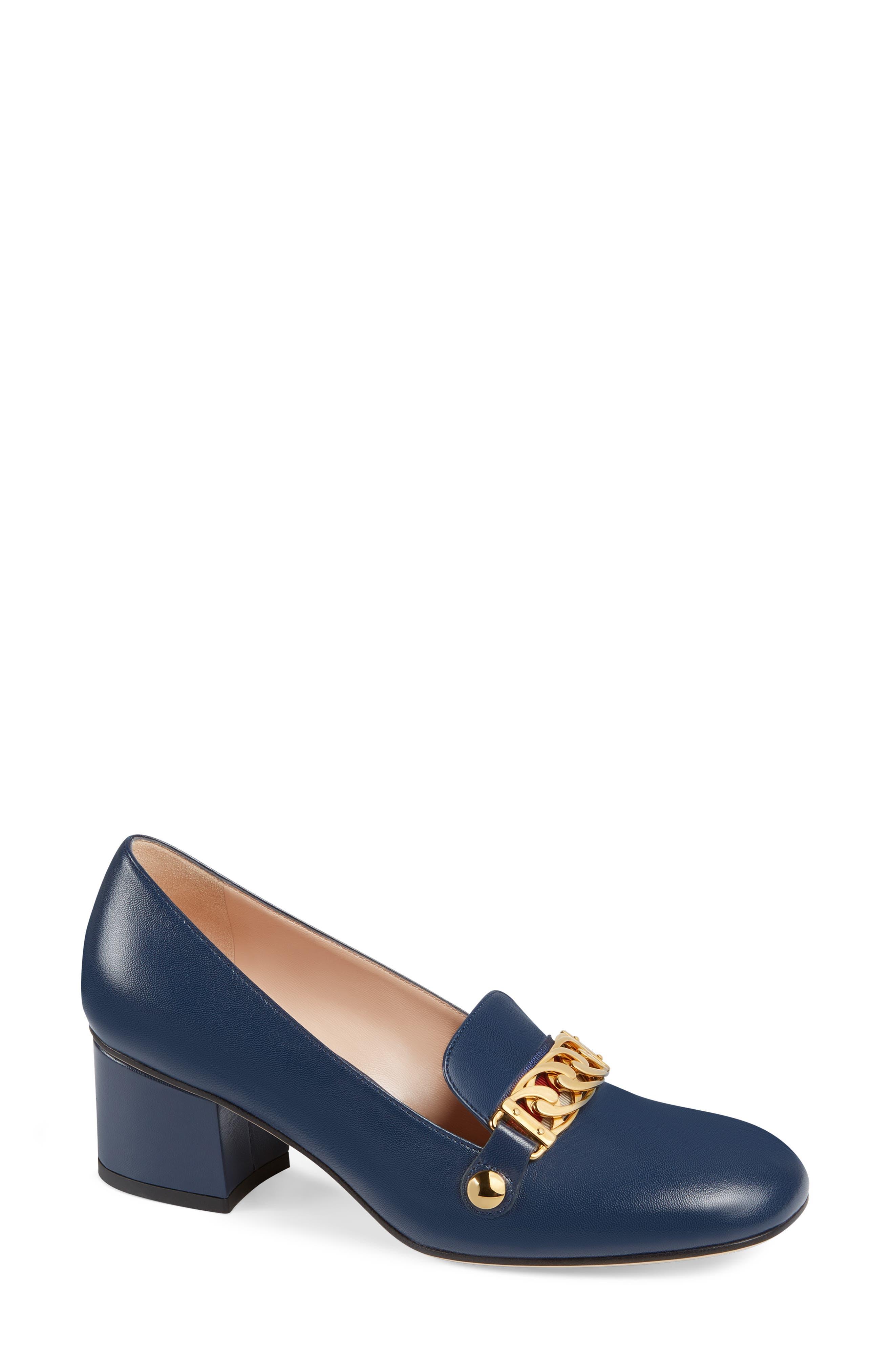 Gucci Sylvie Loafer Pump - Blue