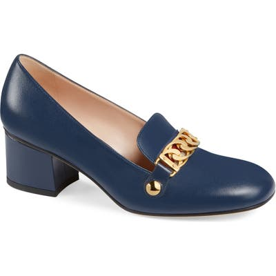 Gucci Loafer Pump, Blue