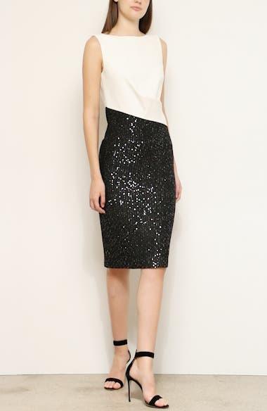 Glittering Sequin Rib Knit Dress, video thumbnail