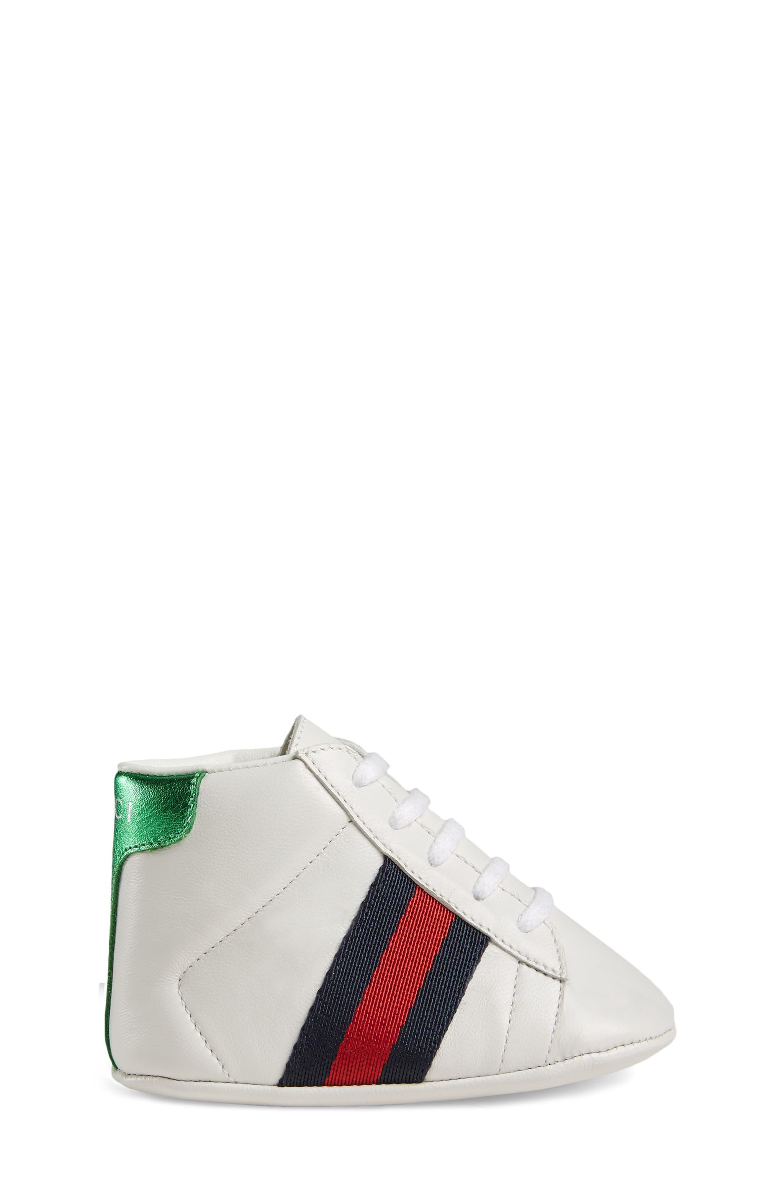 ,                             New Ace Crib Shoe,                             Alternate thumbnail 3, color,                             WHITE