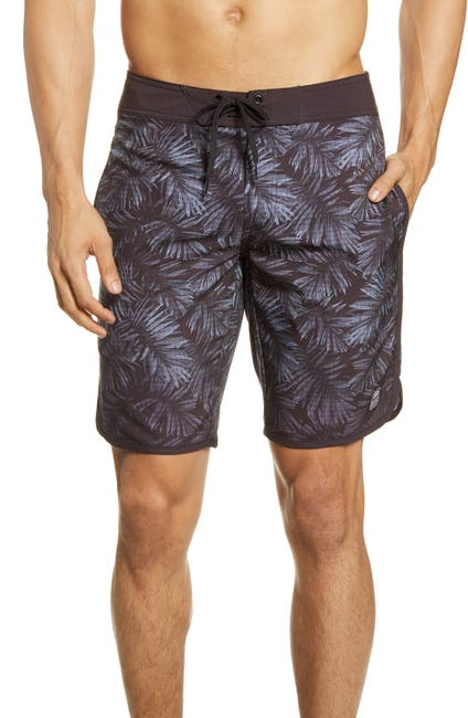 Image of TRAVIS MATHEW Whale Tail Printed Swim Trunks