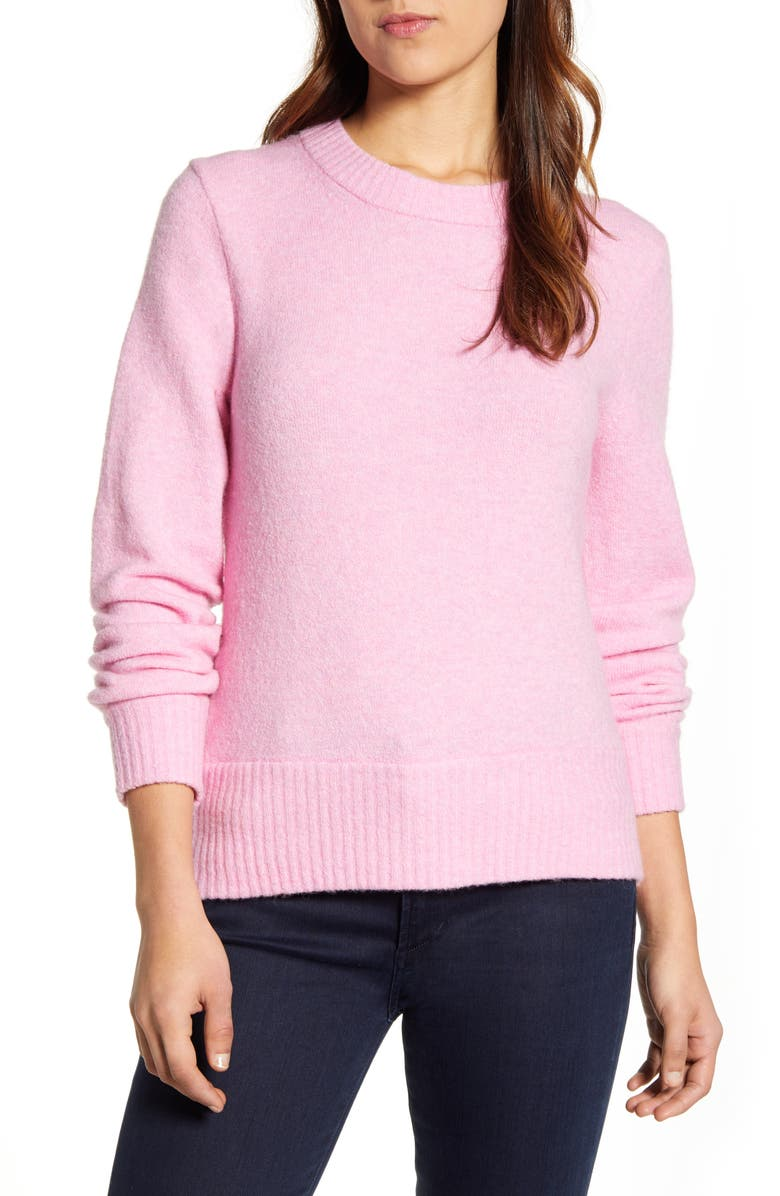 J.CREW Crewneck Sweater in Super Soft Yarn, Main, color, 652