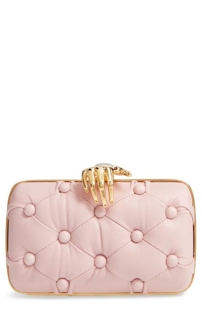 Benedetta Bruzziches CARMEN HAND TUFTED LEATHER CLUTCH