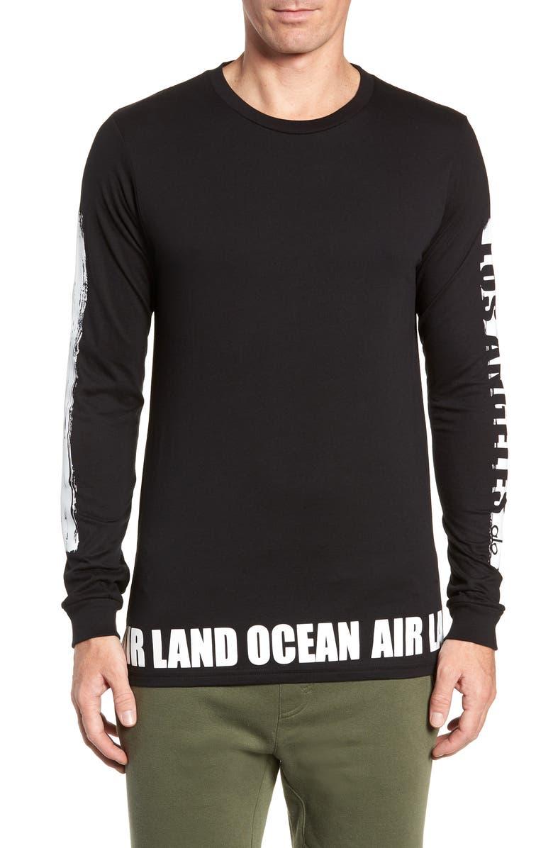 ALO Fairfax Long Sleeve T-Shirt, Main, color, 001