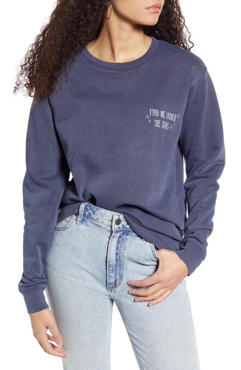 VINYL ICONS Joshua Tree Graphic Sweatshirt, Main, color, NAVY