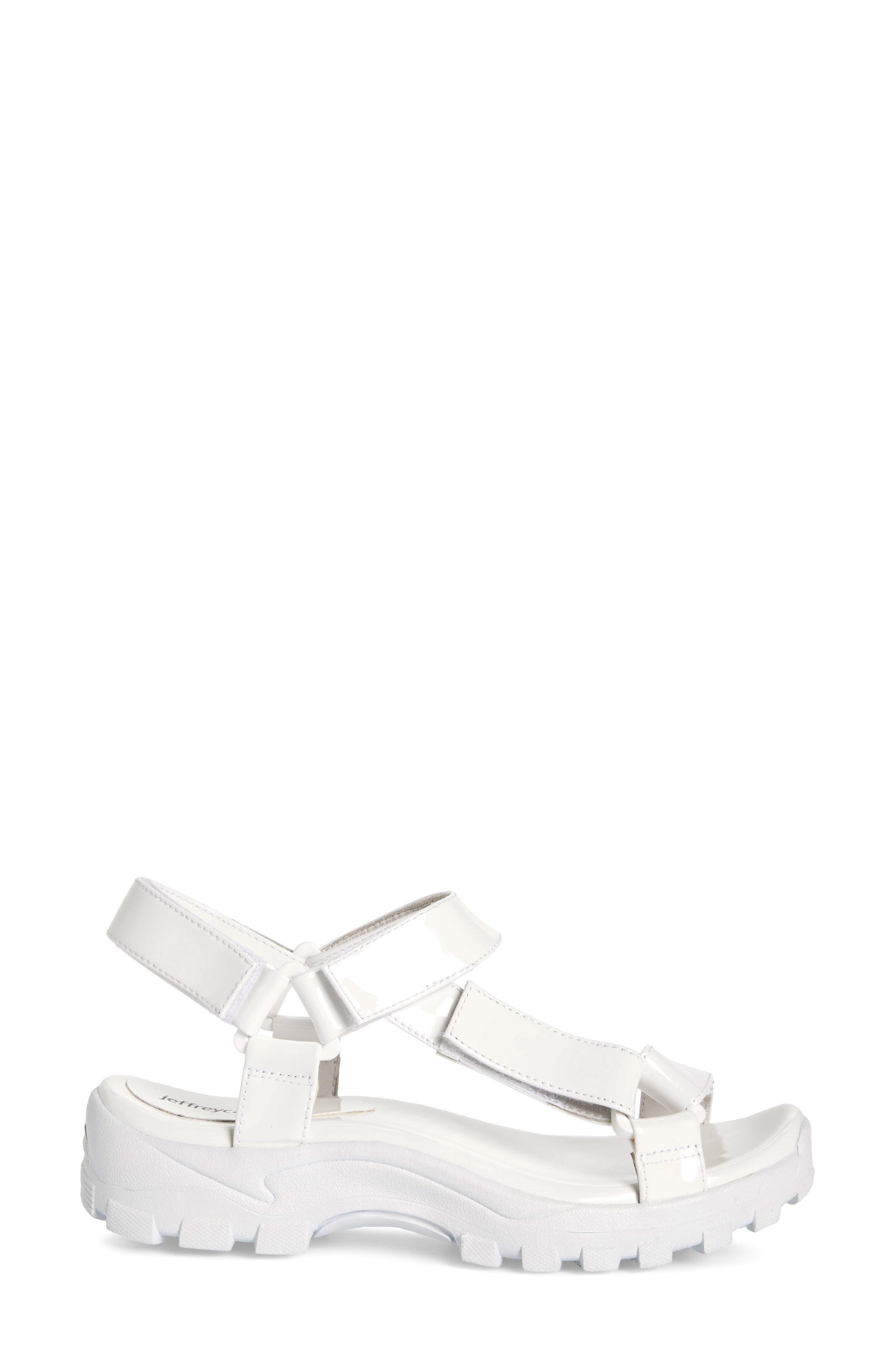 ,                             Patio Sport Sandal,                             Alternate thumbnail 3, color,                             WHITE PATENT LEATHER/ WHITE
