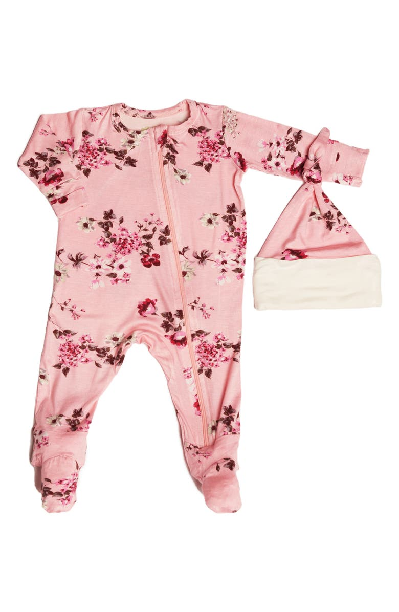 BABY GREY BY EVERLY GREY Jersey Footie & Hat Set, Main, color, 660