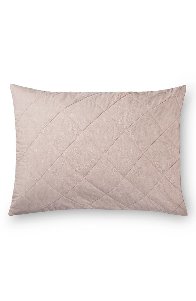 SFERRA Sinna Quilted Sham, Main, color, ROSE/TAUPE