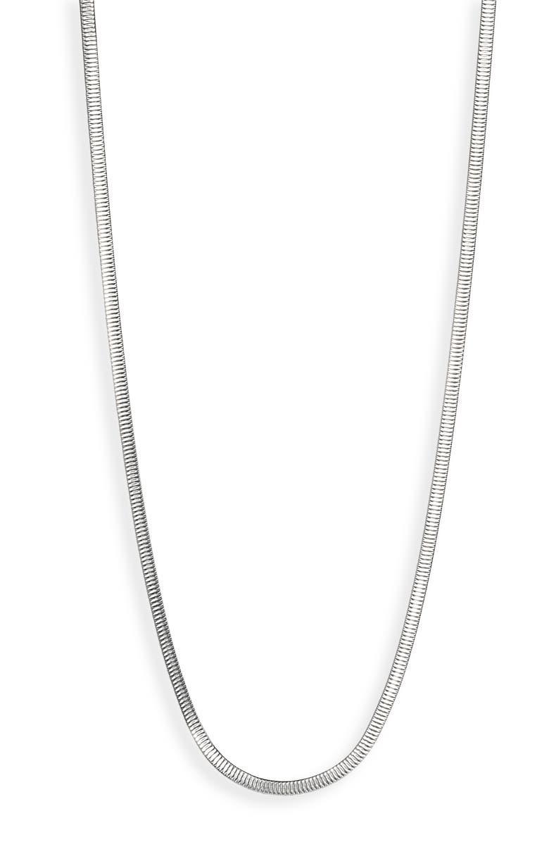ARGENTO VIVO Long Herringbone Chain Necklace, Main, color, 040
