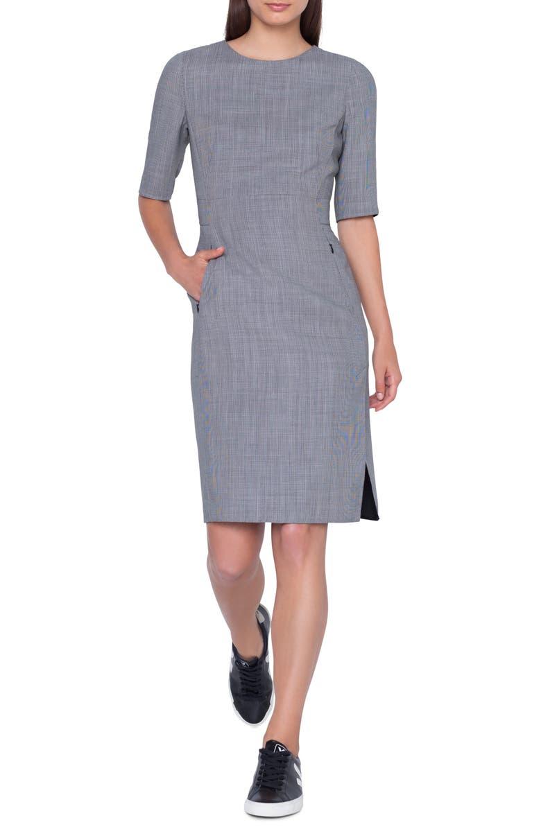 AKRIS Wool Blend Sheath Dress, Main, color, 020