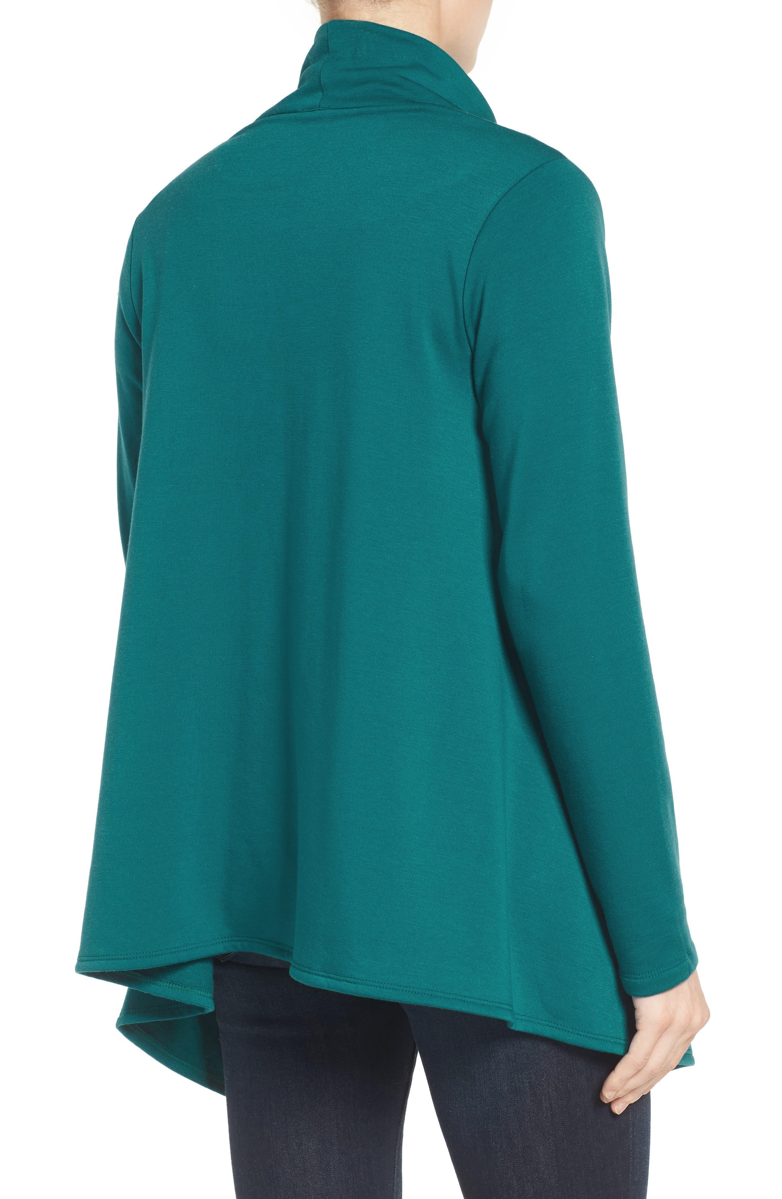 ,                             One-Button Fleece Wrap Cardigan,                             Alternate thumbnail 96, color,                             369