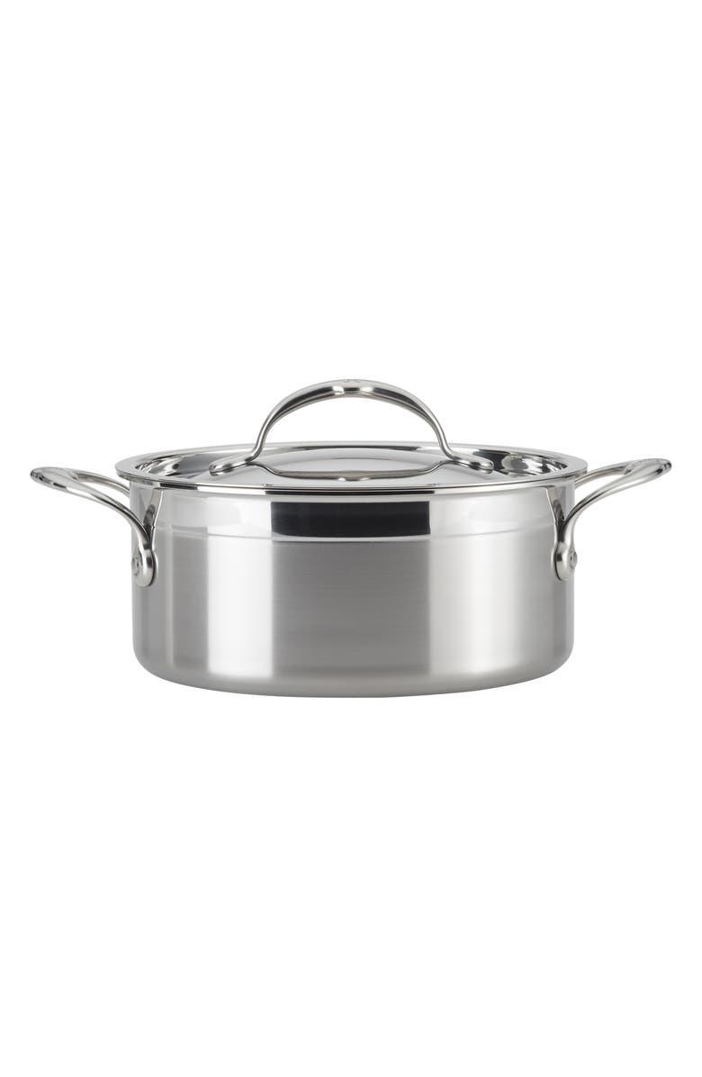 HESTAN ProBond 3-Quart Soup Pot with Lid, Main, color, STAINLESS STEEL