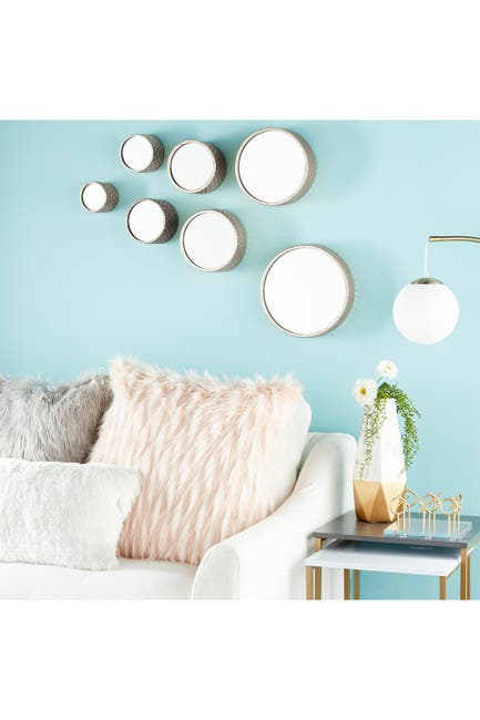 Image of CosmoLiving by Cosmopolitan Metal Wall Mirror - Set of 7