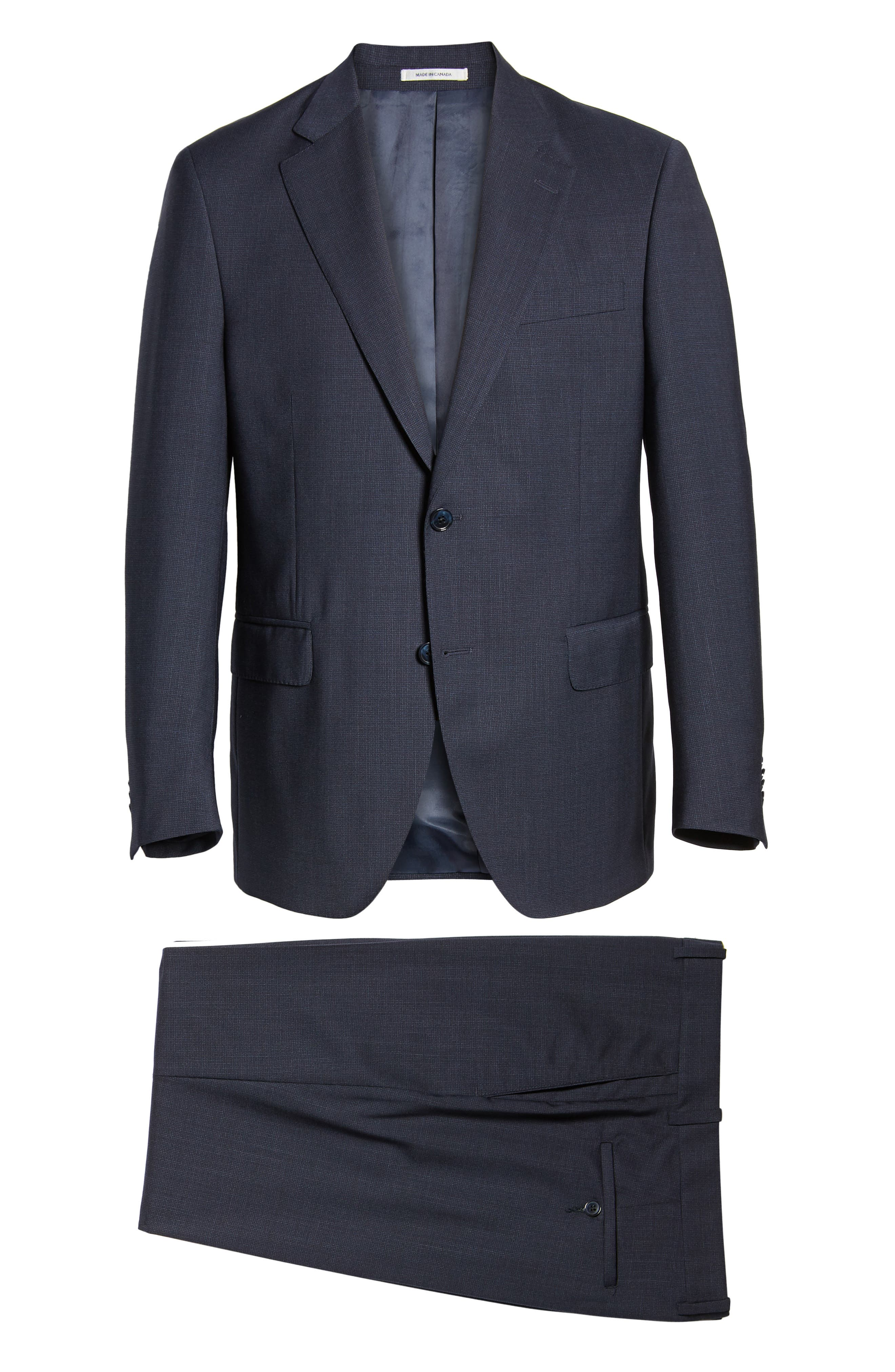 ,                             Flynn Classic Fit Check Wool Suit,                             Alternate thumbnail 9, color,                             NAVY