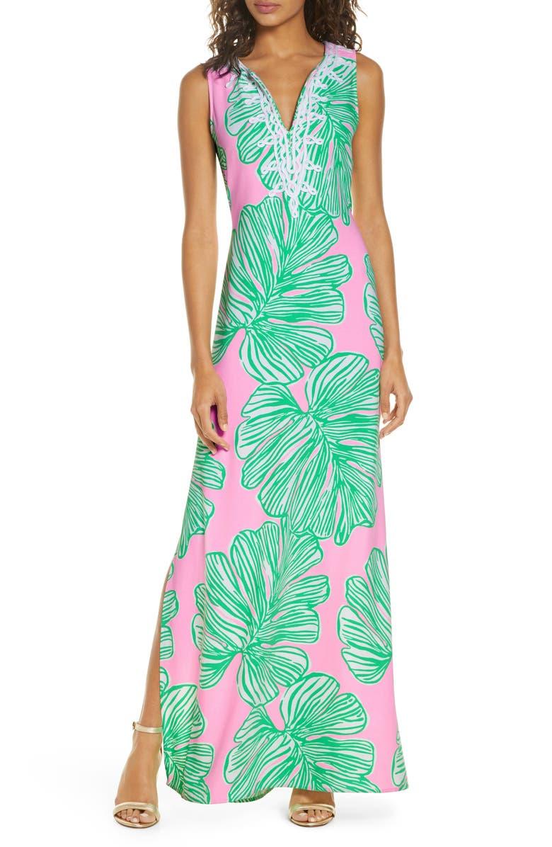 LILLY PULITZER<SUP>®</SUP> Carlotta Maxi Dress, Main, color, MANDEVILLA