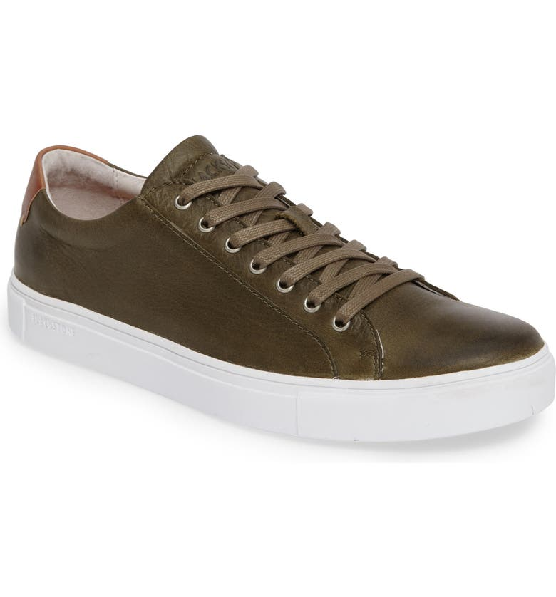BLACKSTONE NM01 7 Eyelet Sneaker, Main, color, OLIVE LEATHER