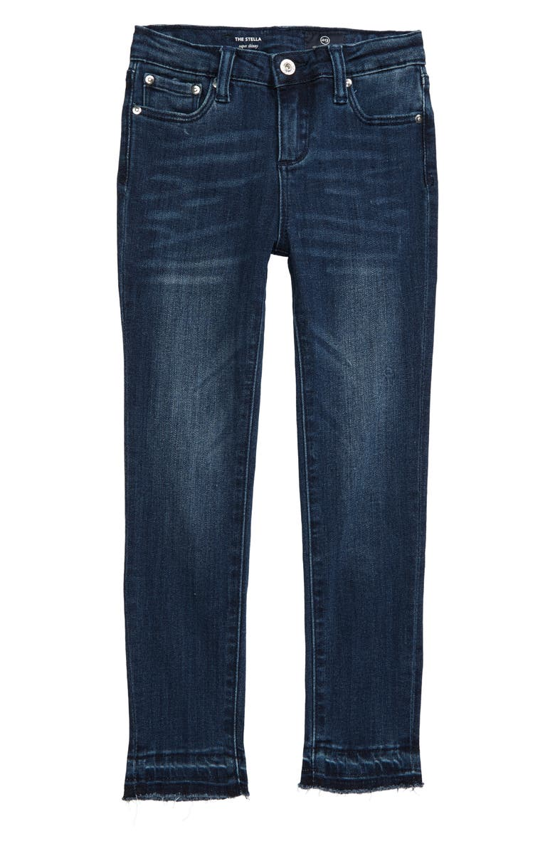 AG adriano goldschmied kids The Stella Release Hem Super Skinny Jeans, Main, color, 400