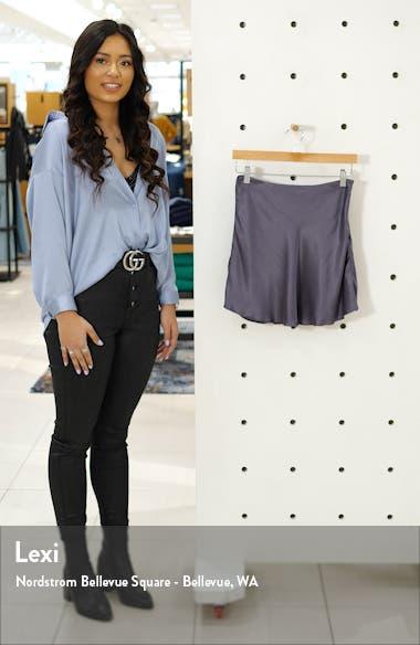 Bias Cut Satin Miniskirt, sales video thumbnail