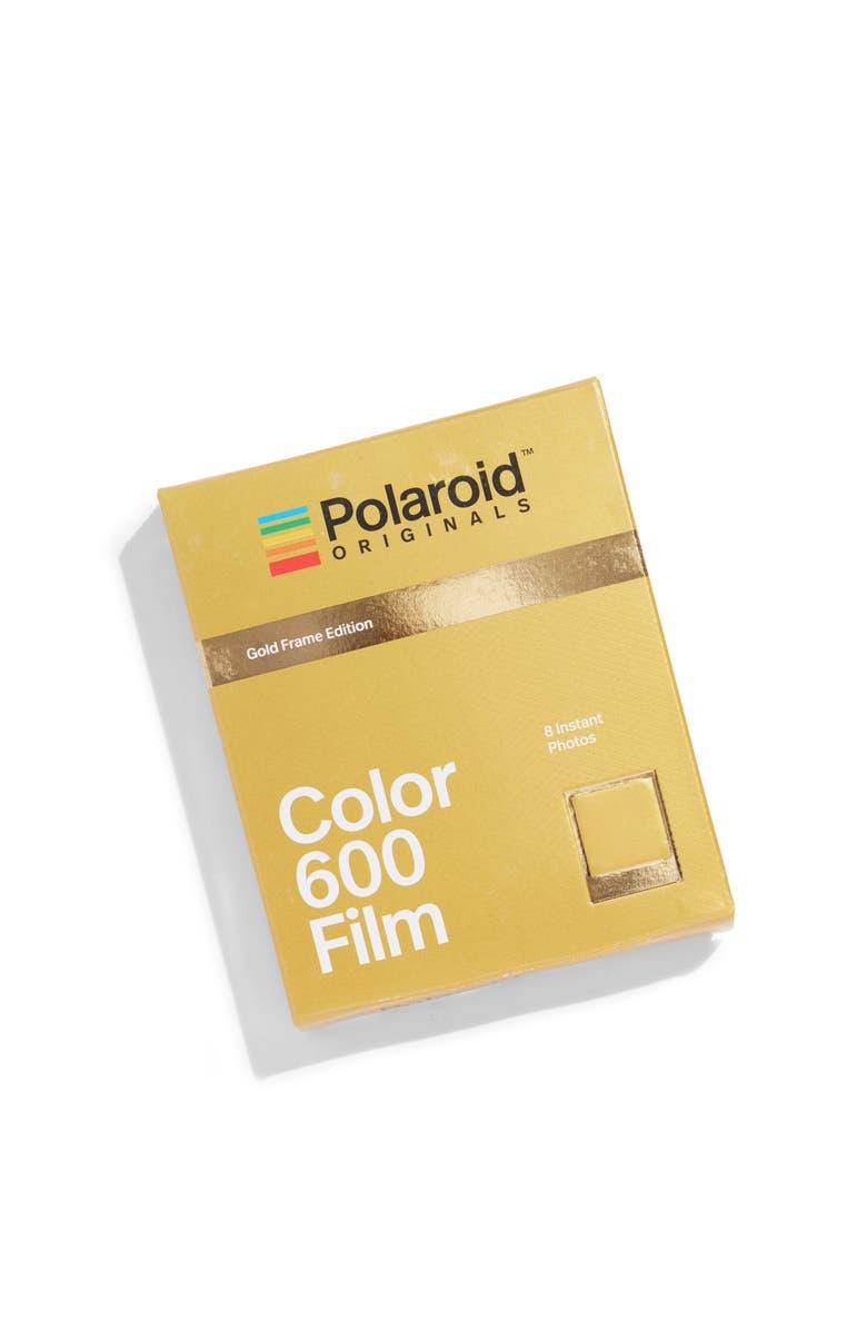 POLAROID ORIGINALS 600 Metallic Gold Frame Instant Film, Main, color, 710