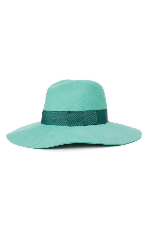 Brixton 'PIPER' FLOPPY WOOL HAT - GREEN