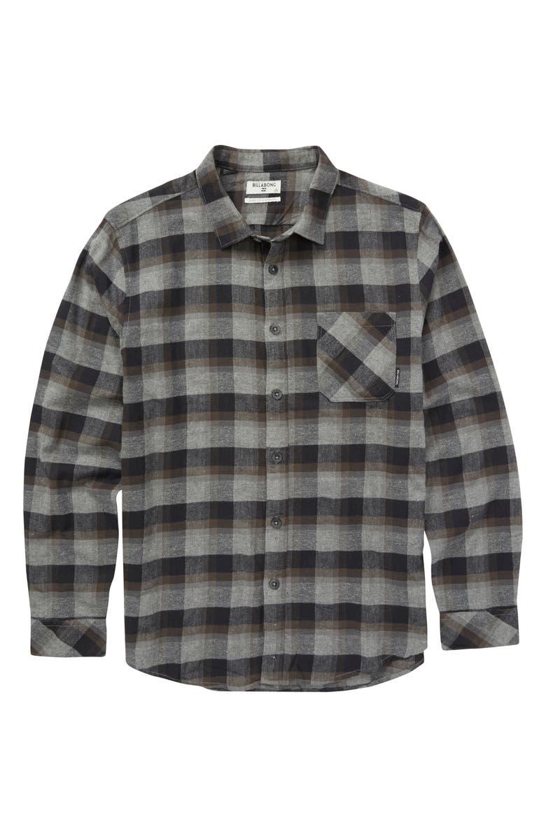 BILLABONG Freemont Flannel Shirt, Main, color, 001