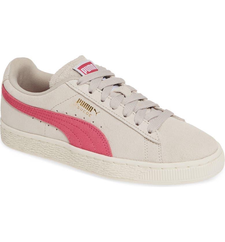 PUMA 'Suede Classic' Sneaker, Main, color, SILVER GRAY/ FUCHSIA PURPLE