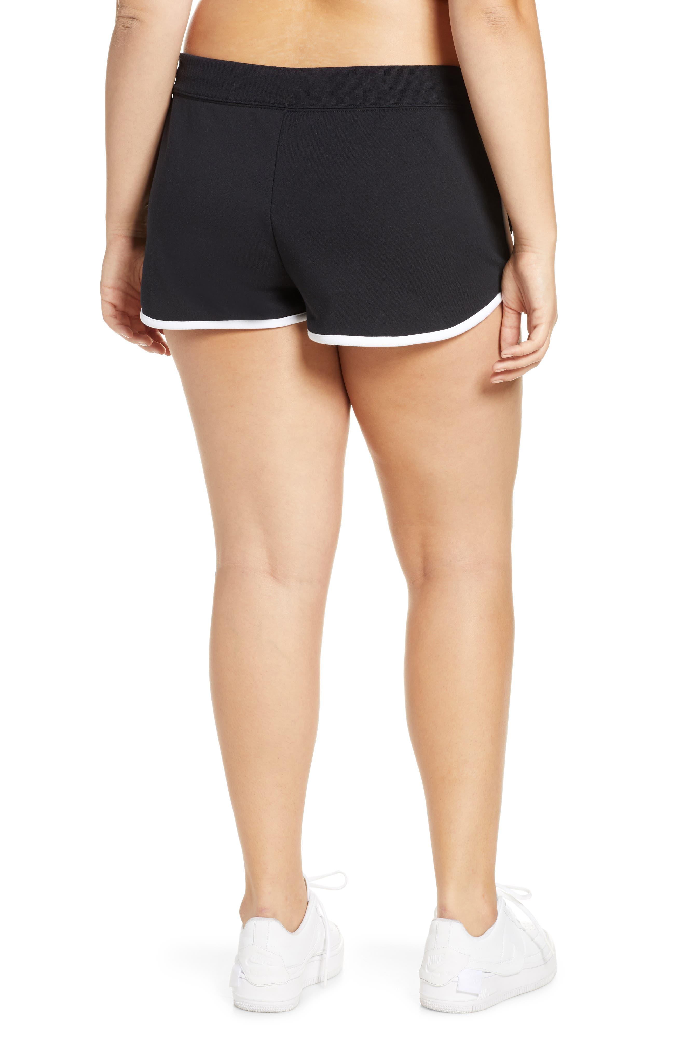 ,                             Sportswear Heritage Fleece Shorts,                             Alternate thumbnail 5, color,                             BLACK/ WHITE/ WHITE