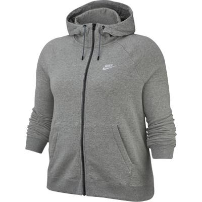 Plus Size Nike Sportswear Essential Full Zip Fleece Hoodie