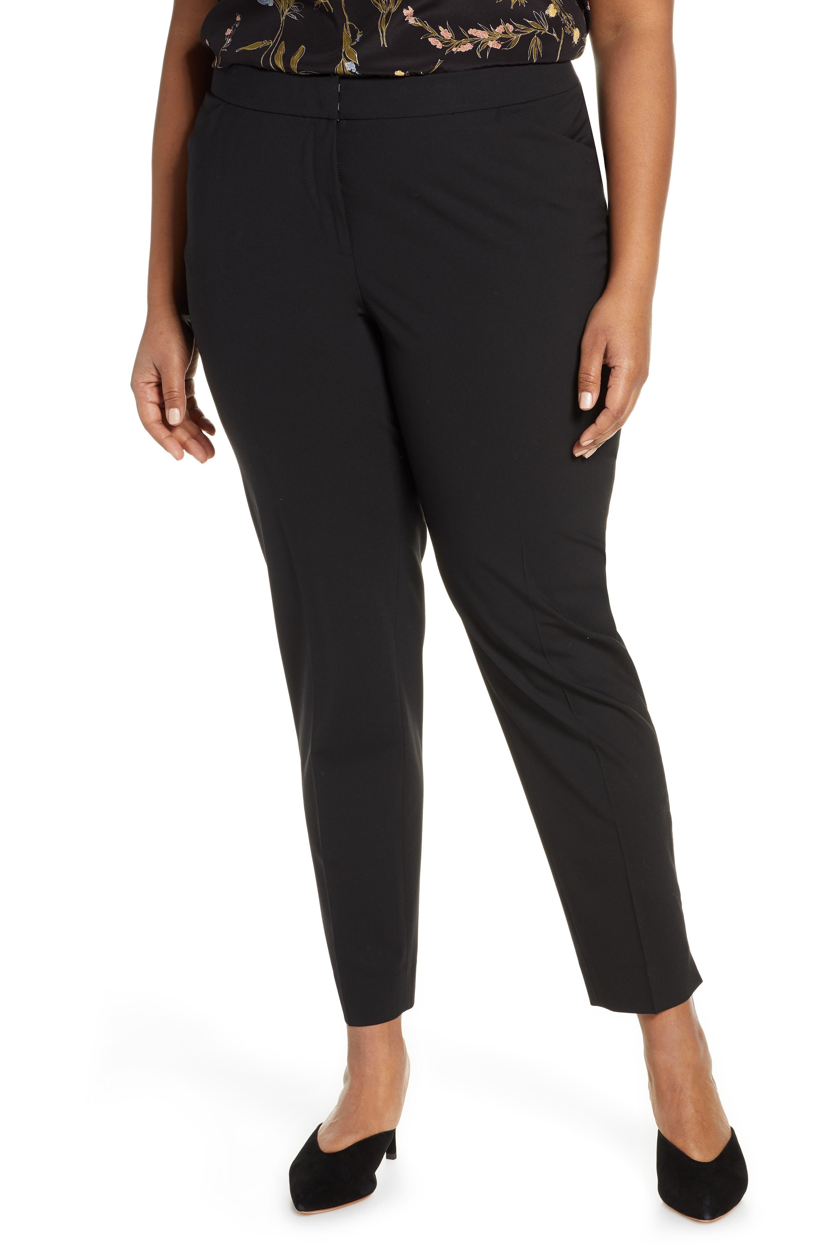 Lafayette 148 New York Irving Stretch Wool Pants (Plus Size)