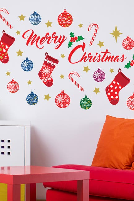Image of WalPlus Merry Christmas Multicolor Wall Decal
