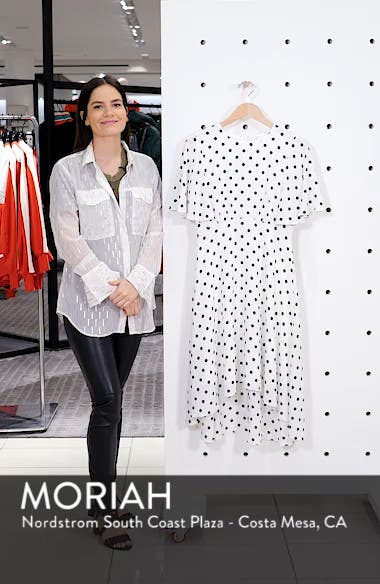 Dot High/Low Fit & Flare Dress, sales video thumbnail