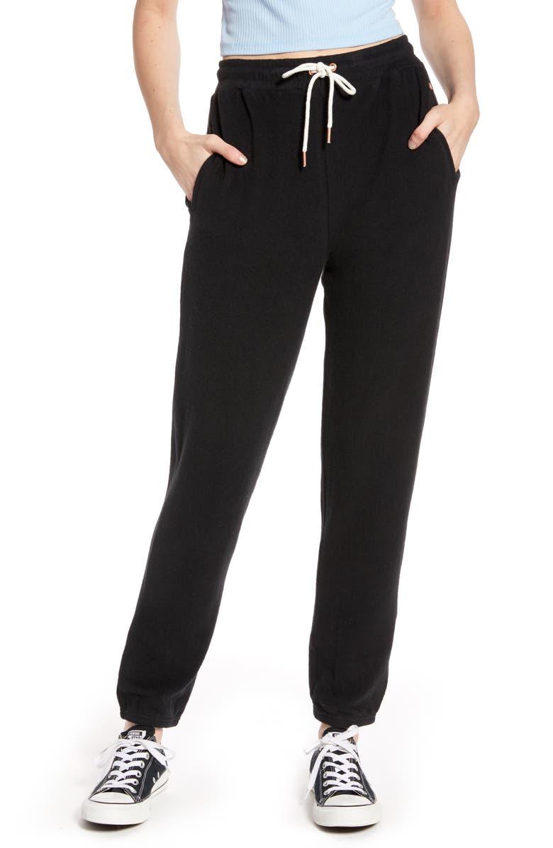VOLCOM Lil Fleece Sweatpants, Main, color, BLACK