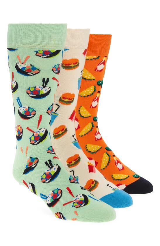 Happy Socks Socks ASSORTED 3-PACK FOOD LOVERS SOCKS GIFT BOX