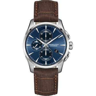 Hamilton Jazzmaster Multifunction Automatic Leather Strap Watch, 42mm