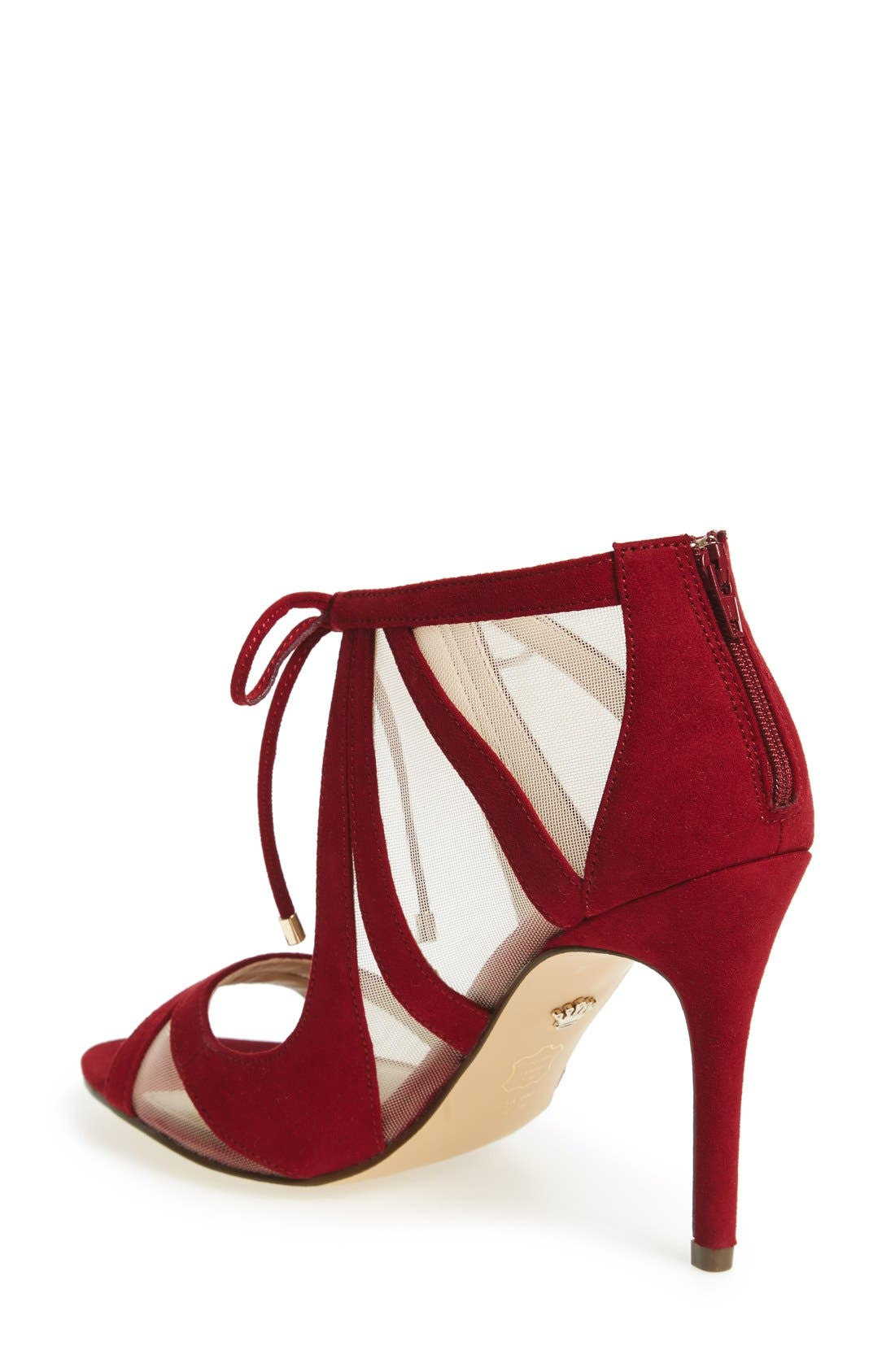 ,                             Cherie Illusion Sandal,                             Alternate thumbnail 3, color,                             CRANBERRY SUEDE