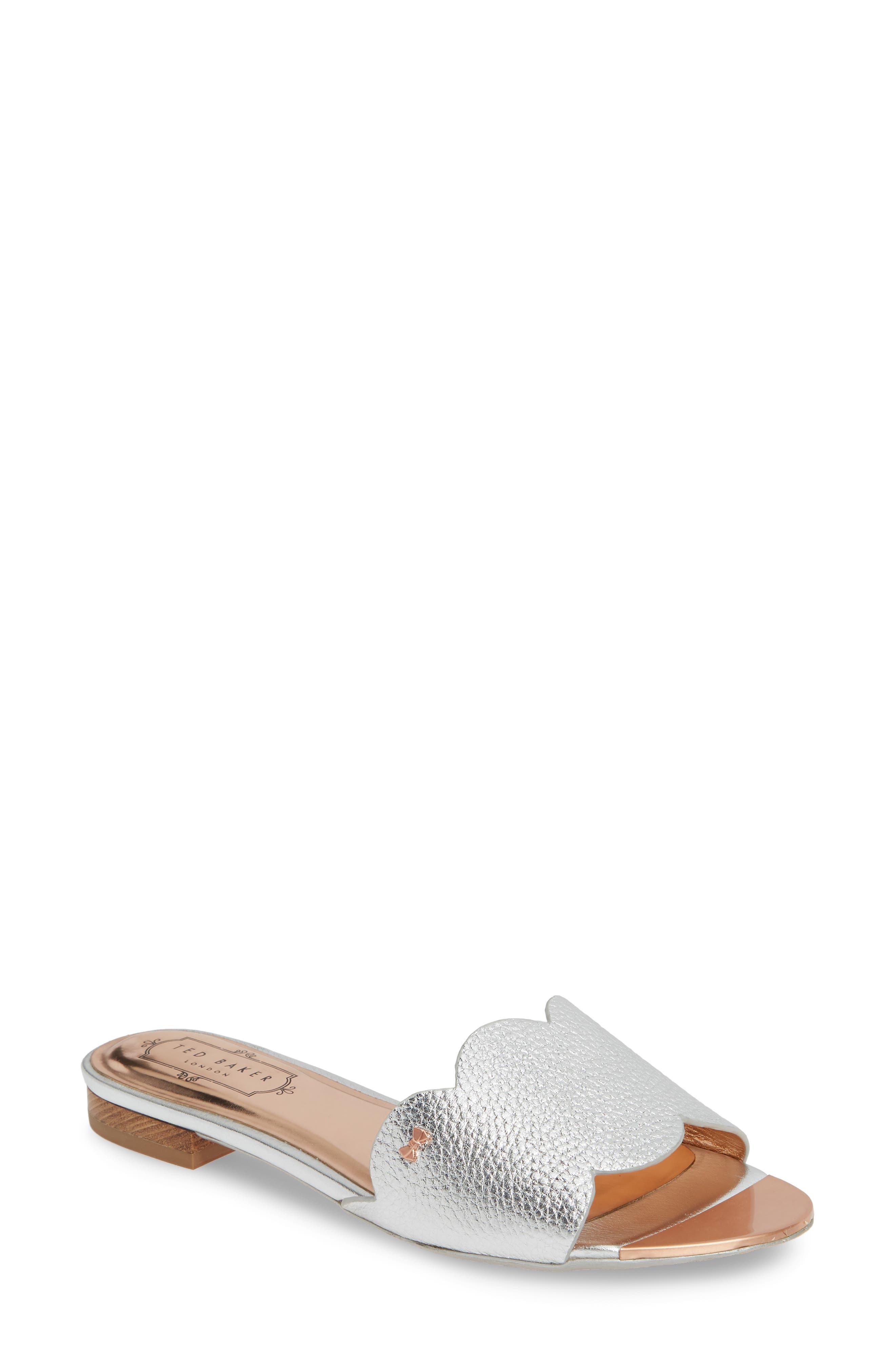 Ted Baker London Rhaill Slide Sandal - Metallic