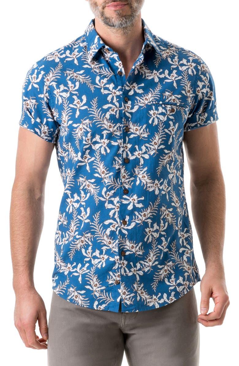 RODD & GUNN Four Rivers Floral Cotton Sport Shirt, Main, color, 438