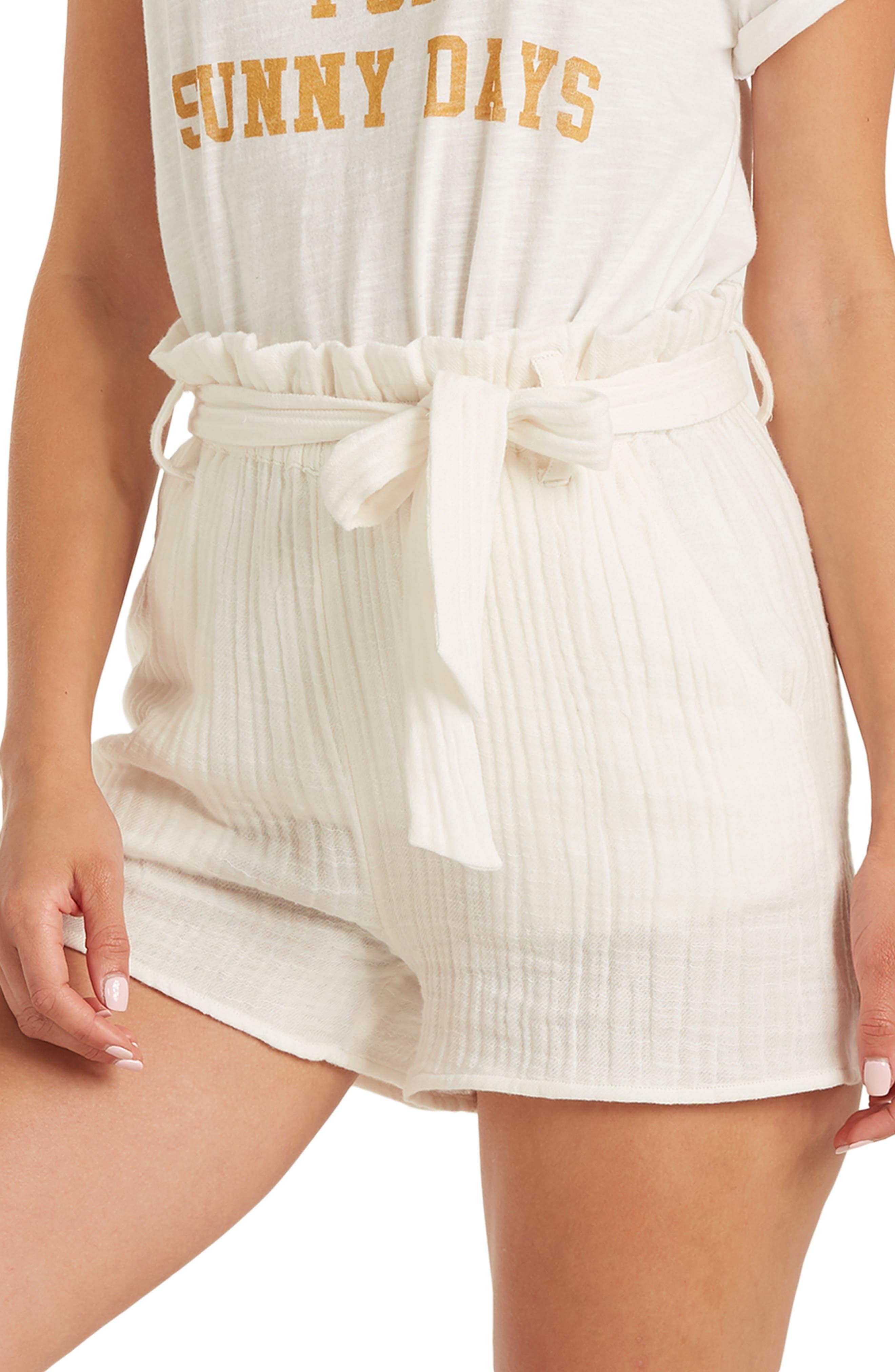 Billabong Kiss the Wind Paperbag Waist Shorts | Nordstrom
