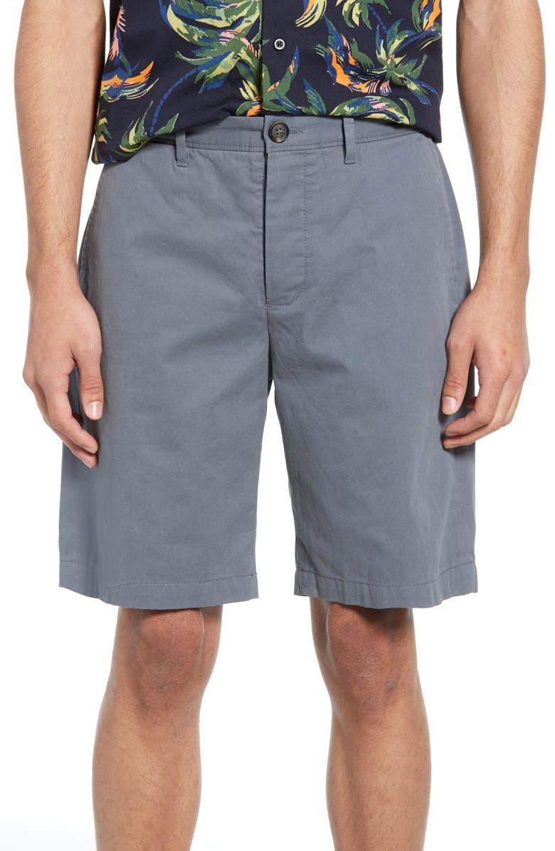 ALLSAINTS Cobalt Slim Fit Cotton Shorts, Main, color, GRANITE BLUE