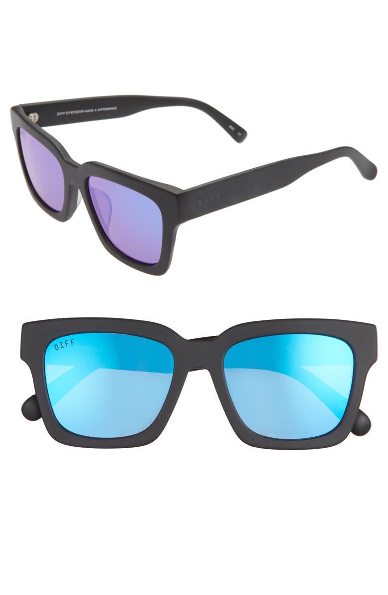 DIFF Austen 55mm Square Sunglasses, Main, color, 001
