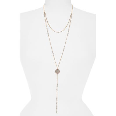 Canvas Jewelry Layered Y-Necklace
