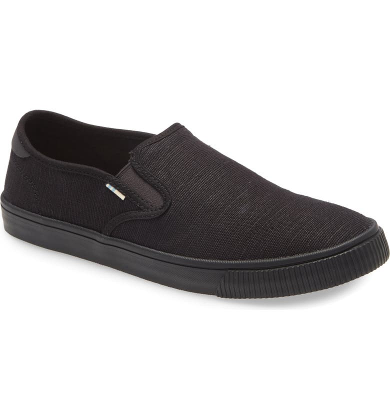 TOMS Baja Slip-On, Main, color, BLACK