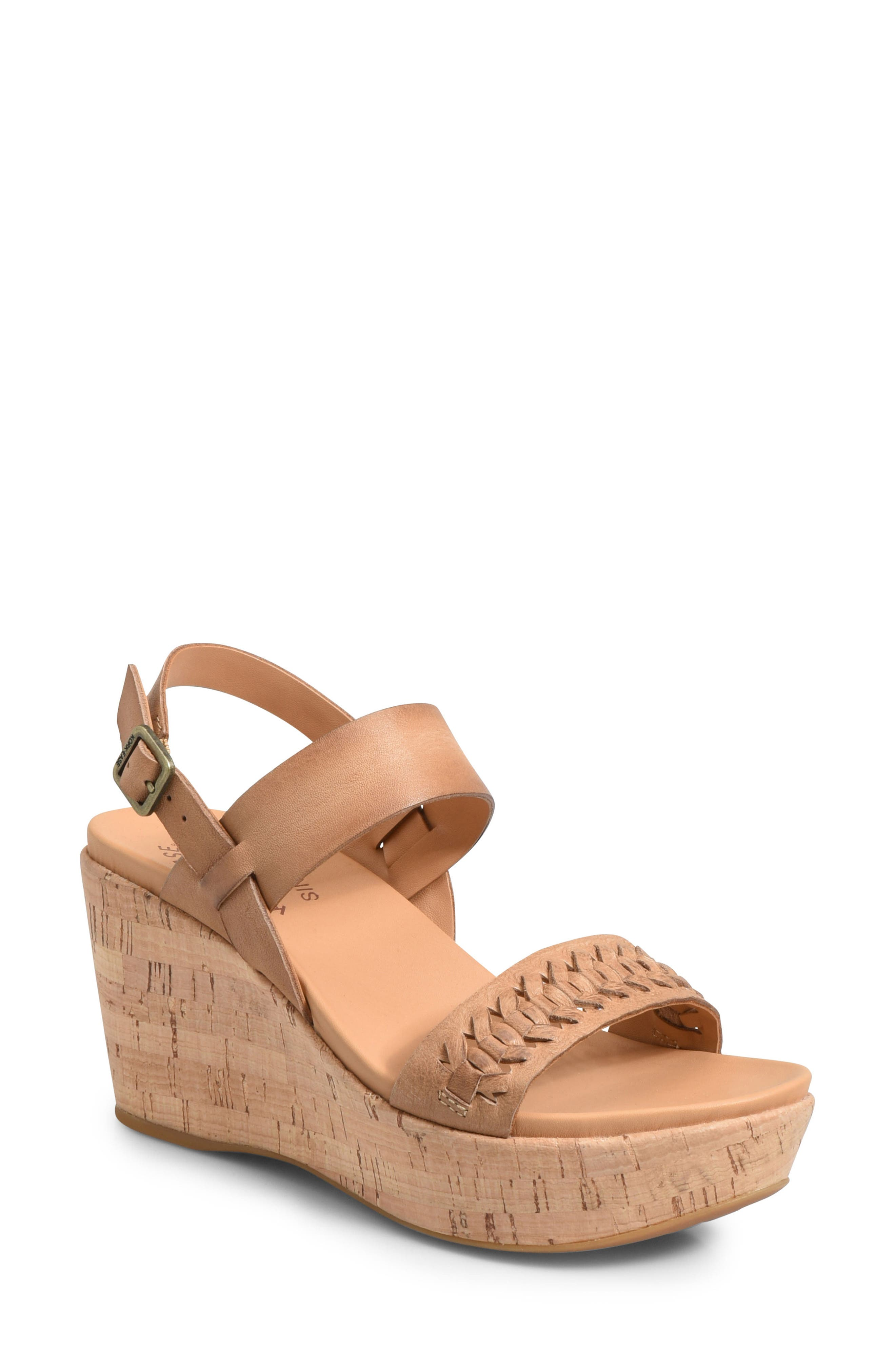 Kork-Ease Austin Braid Wedge Sandal, Brown