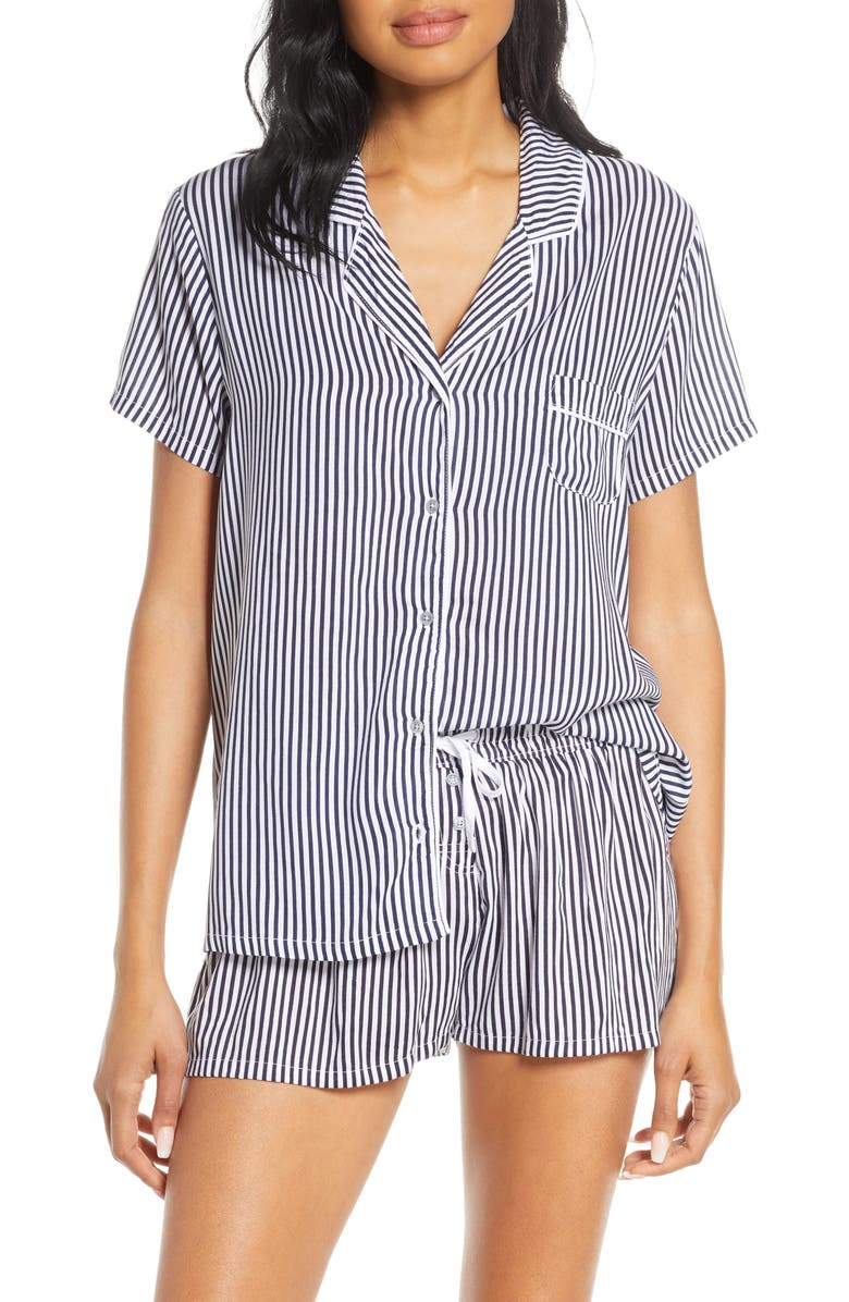 SPLENDID Short Pajamas, Main, color, VERTICAL HEAVENLY STRIPE