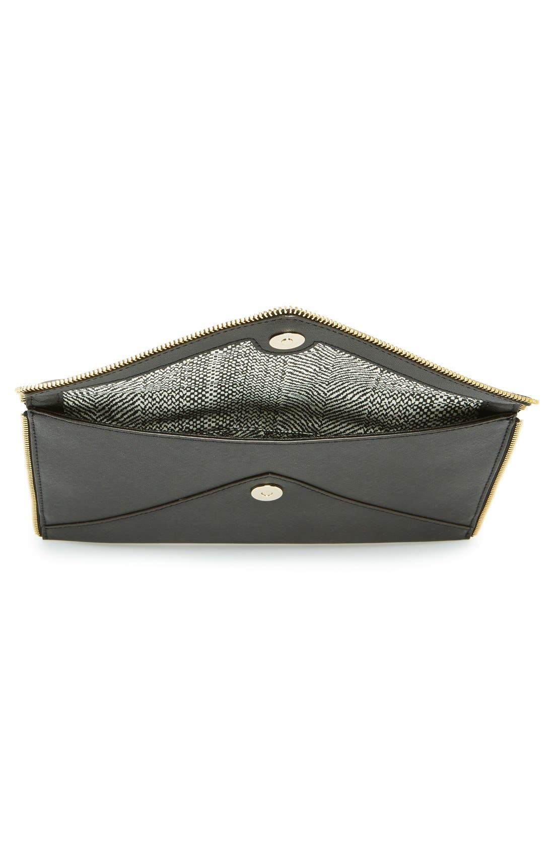 ,                             Leo Envelope Clutch,                             Alternate thumbnail 90, color,                             001