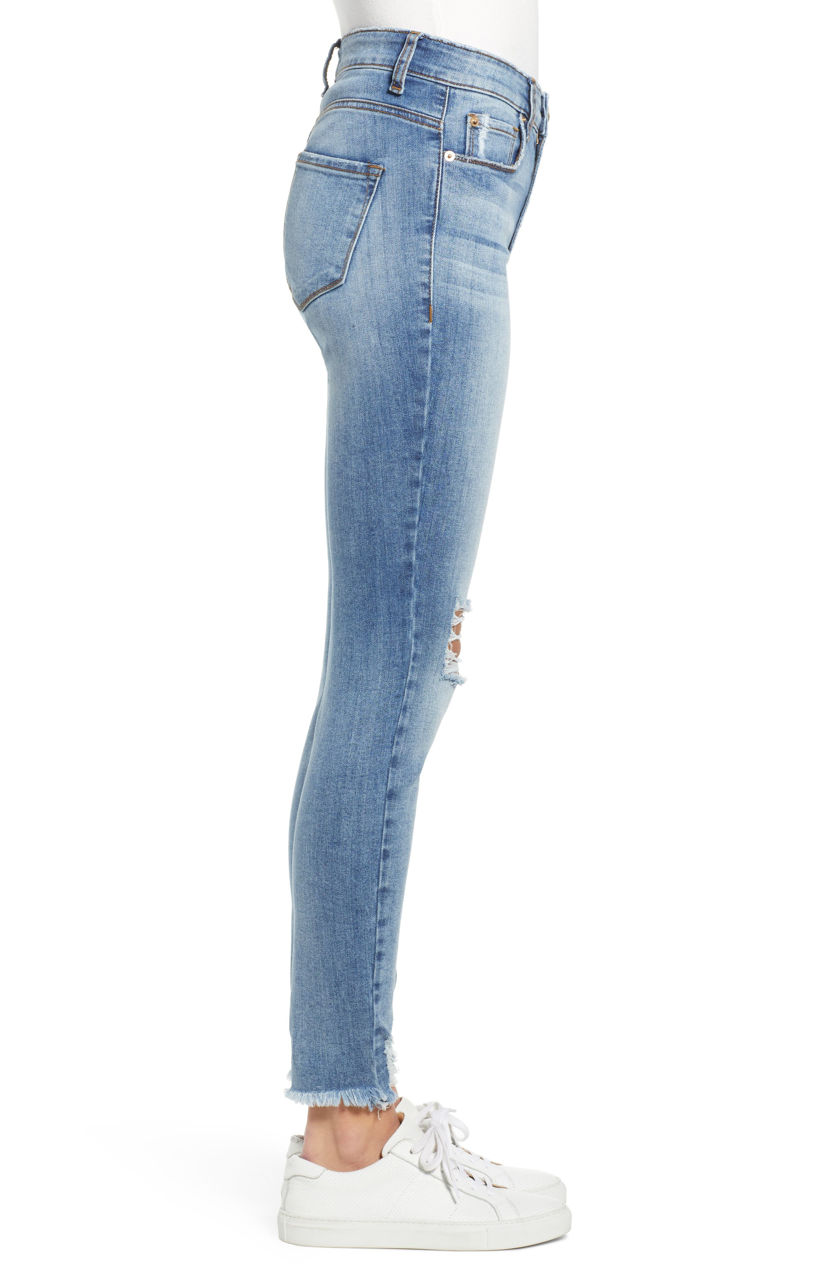 ,                             Emma Ripped High Waist Skinny Jeans,                             Alternate thumbnail 4, color,                             NORTH BROWNSTONE
