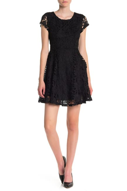 Image of MAX & ASH Short Sleeve Lace Dress